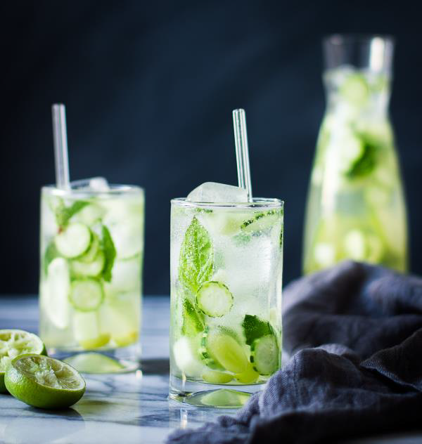 CUCUMBER MELON MINT WATER KEFIR FIZZ